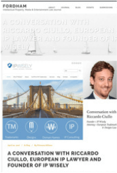 IP Wisely on the Fordham IP , Media & Entertainment Law Journal