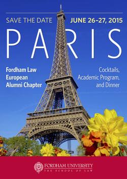 Announcement: Fordham Law European Meeting in Paris, 26-27 June 2016